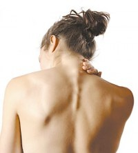 upper back pain between shoulder blades and neck