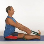 Yoga straps for stretching: paschimottanasana