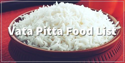vata pitta food list